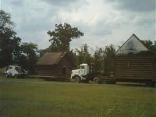 Log Cabin and Smokehouse